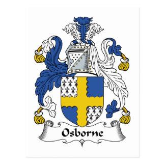 Escudo de la familia de Osborne Tarjetas Postales