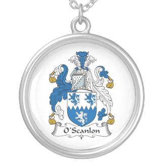 Escudo de la familia de O'Scanlon Colgante Redondo