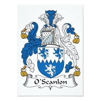 """Escudo de la familia de O'Scanlon Invitación 5"""" X 7"""""""