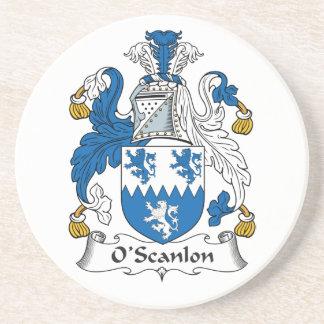 Escudo de la familia de O'Scanlon Posavaso Para Bebida