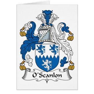 Escudo de la familia de O'Scanlon Tarjeta De Felicitación