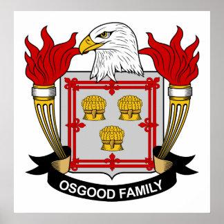 Escudo de la familia de Osgood Póster