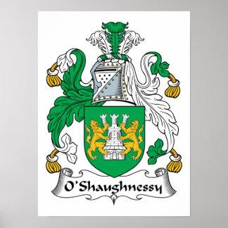 Escudo de la familia de O'Shaughnessy Póster