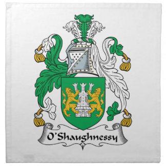 Escudo de la familia de O'Shaughnessy Servilletas De Papel