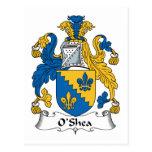 Escudo de la familia de O'Shea Postal