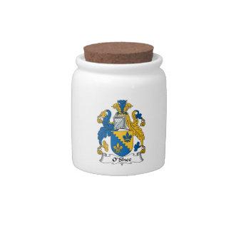 Escudo de la familia de O'Shee Platos Para Caramelos