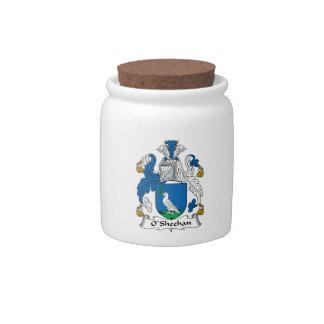 Escudo de la familia de O'Sheehan Platos Para Caramelos