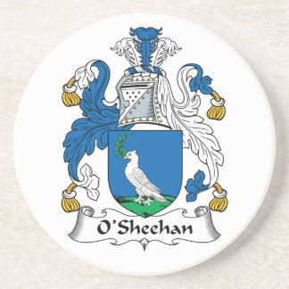 Escudo de la familia de O'Sheehan Posavasos Para Bebidas