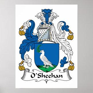 Escudo de la familia de O'Sheehan Posters