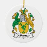 Escudo de la familia de O'Sheridan Ornamento De Reyes Magos