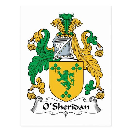 Escudo de la familia de O'Sheridan Postal