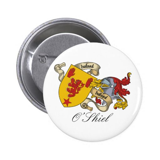 Escudo de la familia de O'Shiel Pin Redondo 5 Cm