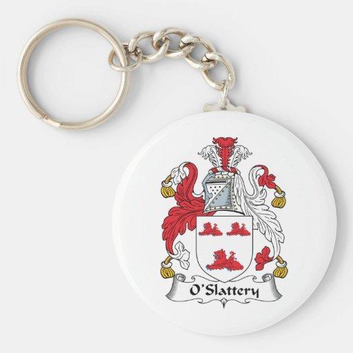 Escudo de la familia de O'Slattery Llaveros Personalizados