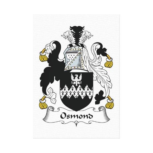 Escudo de la familia de Osmond Impresion En Lona
