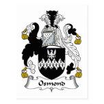 Escudo de la familia de Osmond Postal