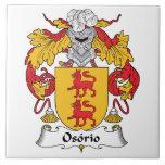 Escudo de la familia de Osorio Azulejo Cerámica