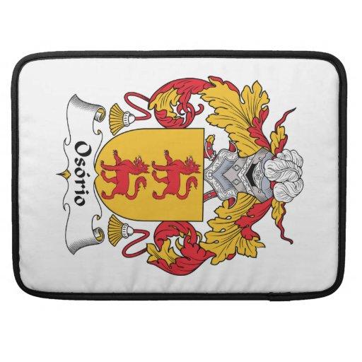 Escudo de la familia de Osorio Funda Macbook Pro