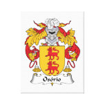 Escudo de la familia de Osorio Lona Envuelta Para Galerías