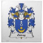 Escudo de la familia de Ostrog Servilleta Imprimida