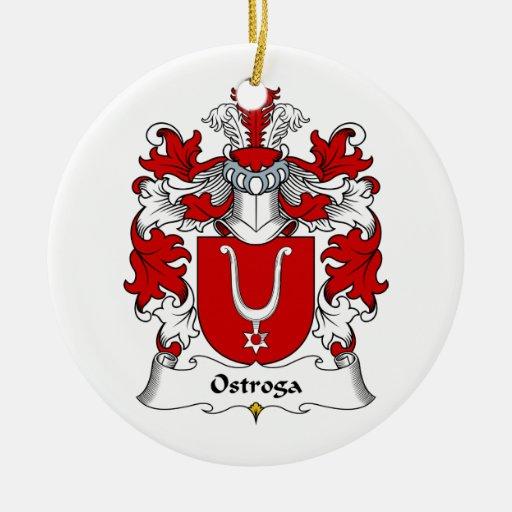 Escudo de la familia de Ostroga Adorno Redondo De Cerámica