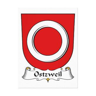 Escudo de la familia de Ostzweil Impresion De Lienzo