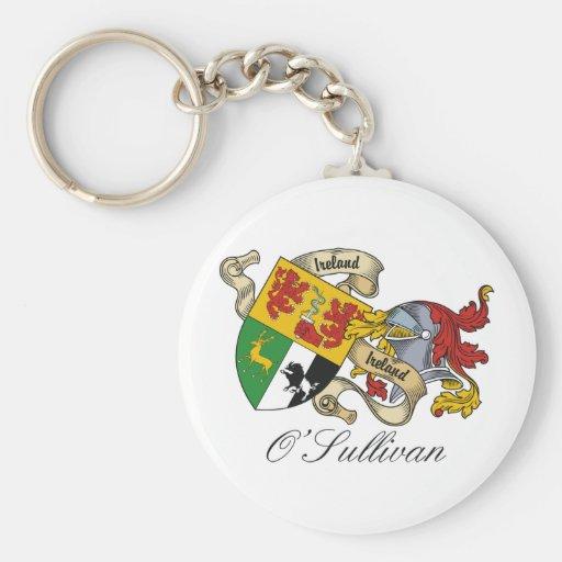 Escudo de la familia de O'Sullivan Llavero Redondo Tipo Pin