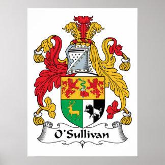 Escudo de la familia de O'Sullivan Poster