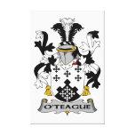 Escudo de la familia de O'Teague Impresiones En Lienzo Estiradas