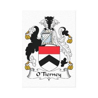 Escudo de la familia de O'Tierney Lienzo Envuelto Para Galerías