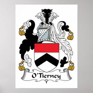 Escudo de la familia de O'Tierney Impresiones
