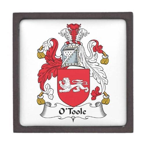 Escudo de la familia de O'Toole Caja De Regalo De Calidad