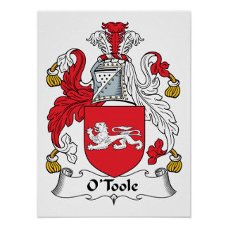 Escudo de la familia de O'Toole Póster