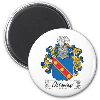 Escudo de la familia de Ottaviani Imán Redondo 5 Cm