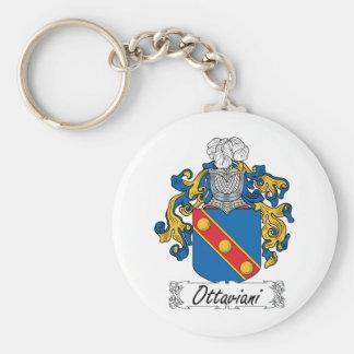 Escudo de la familia de Ottaviani Llavero Redondo Tipo Pin