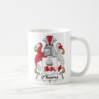 Escudo de la familia de O'Tuama Tazas De Café