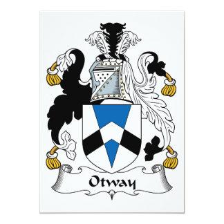 """Escudo de la familia de Otway Invitación 5"""" X 7"""""""