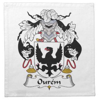 Escudo de la familia de Ourem Servilletas Imprimidas