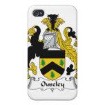 Escudo de la familia de Ouseley iPhone 4 Protectores
