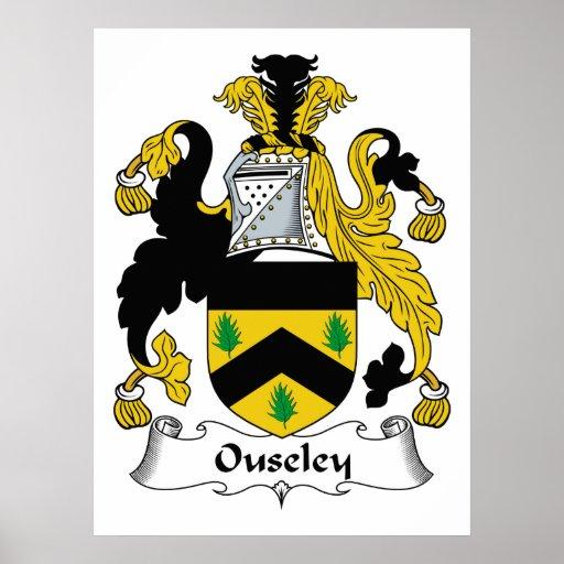 Escudo de la familia de Ouseley Impresiones