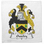 Escudo de la familia de Ouseley Servilletas De Papel