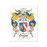 Escudo de la familia de Ovejas Lona Envuelta Para Galerías