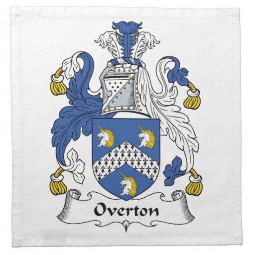 Escudo de la familia de Overton Servilleta Imprimida