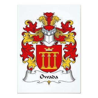 Escudo de la familia de Owada Invitación 12,7 X 17,8 Cm
