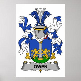 Escudo de la familia de Owen Póster
