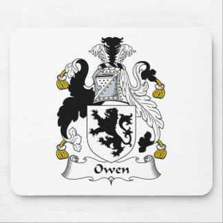 Escudo de la familia de Owen Tapete De Ratones