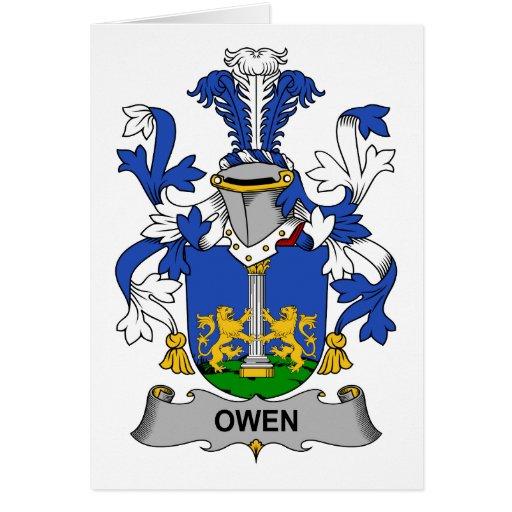 Escudo de la familia de Owen Tarjeta De Felicitación