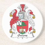 Escudo de la familia de Owens Posavasos Cerveza