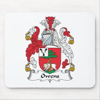 Escudo de la familia de Owens Tapete De Ratón