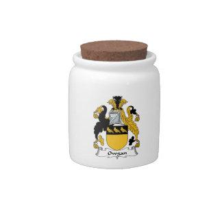 Escudo de la familia de Owgan Jarra Para Caramelo