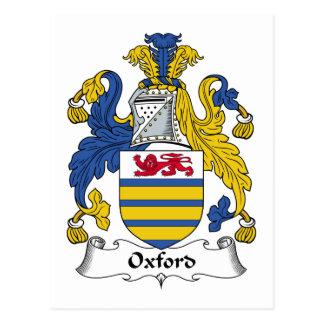 Escudo de la familia de Oxford Tarjetas Postales